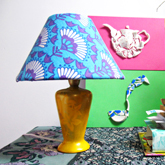 fabric covered lamp