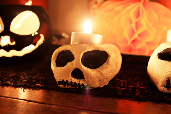 Jessthetics / Salt Dough Skeleton Candle Holders