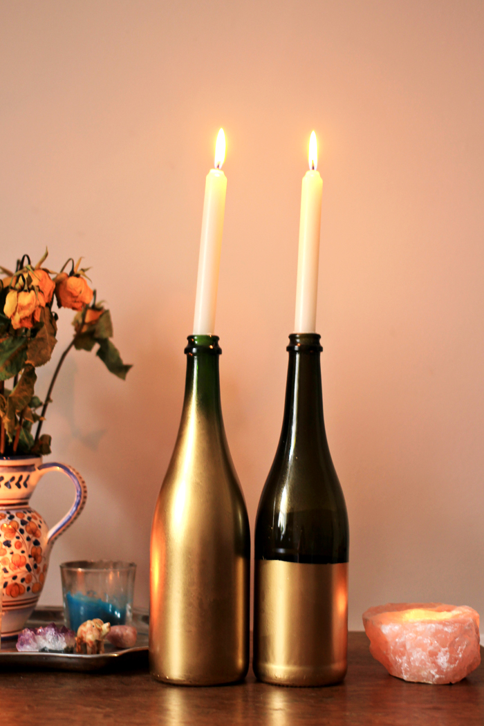 Bottle Candle Holder Design Decoration