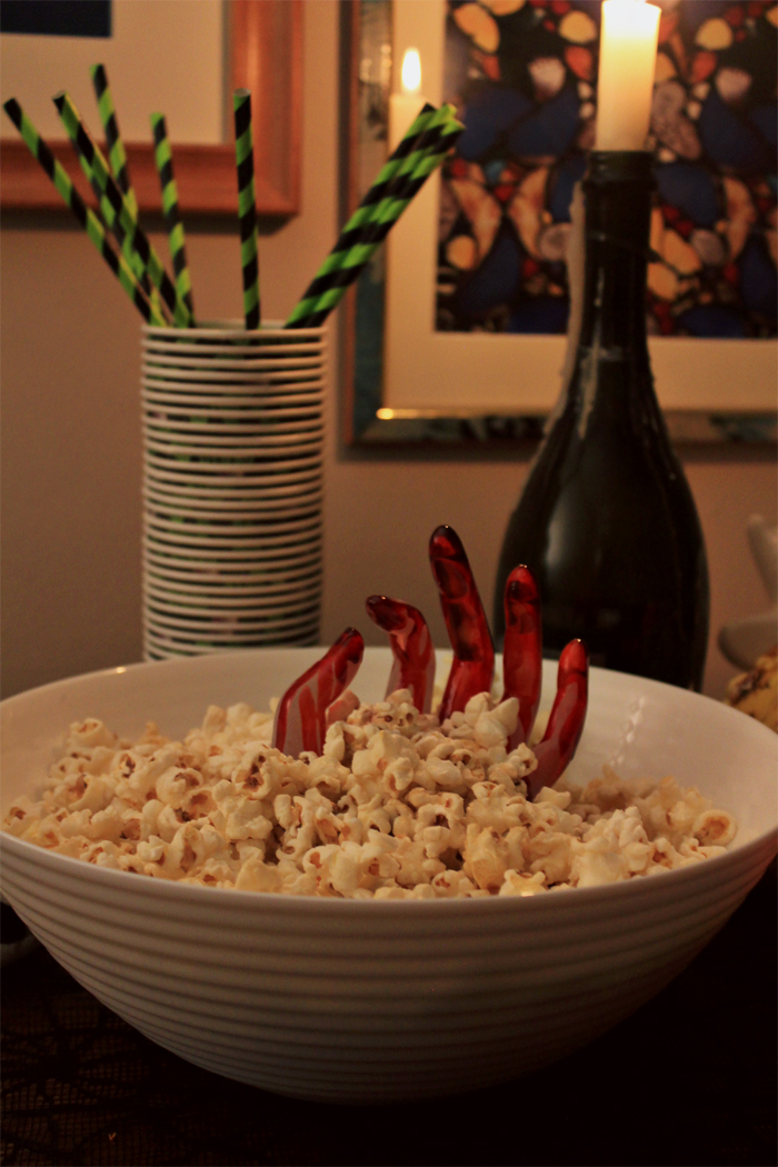 DIY Bloody Hand Snack Bowl